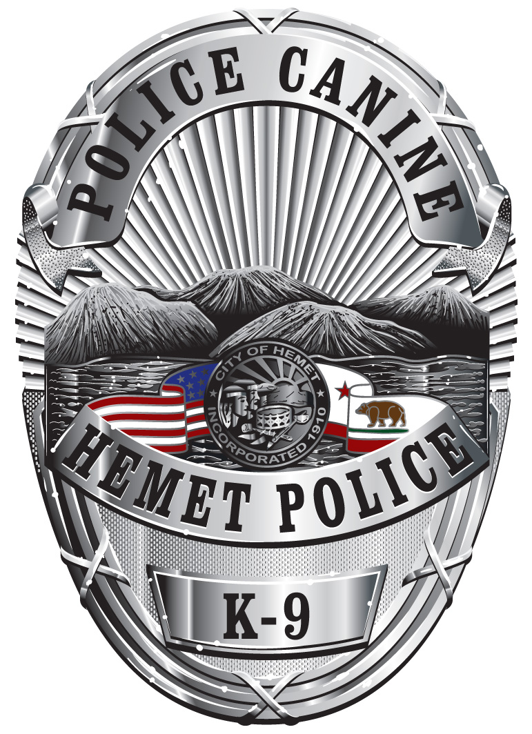 Hemet Police Canine Badge